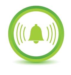 Green alarmclock icon vector