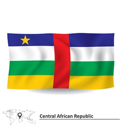Flag of central african republic vector