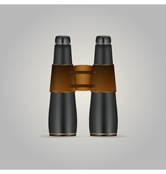 Black binoculars vector