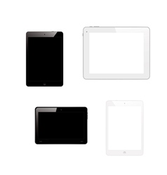 Tablet pc computers vector