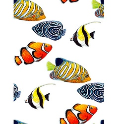 Fish pattern4 vector