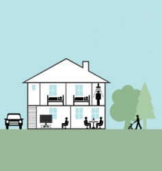 Residential home vector