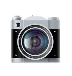 Icon analog film camera isolated on white vector