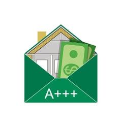 Building envelope saving dollars vector