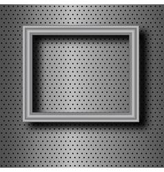 Frame on metal vector