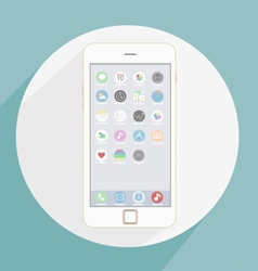 Icons new smartphone 6 vector