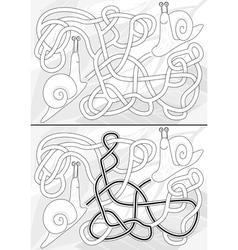 Snail maze vector