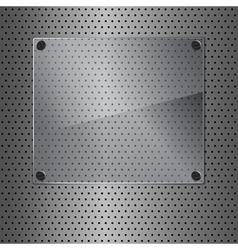 Metal and glass vector