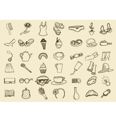 Sketch icons vector