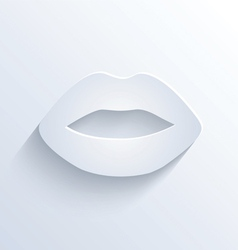 Lips icon with shadow vector