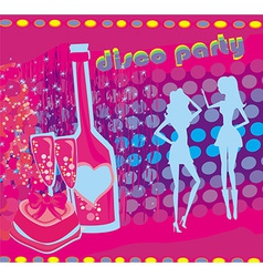 Background disco party - drinks entertainment and vector