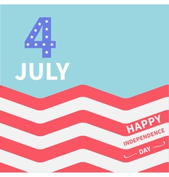 Ocean flag 4 july happy independence day vector