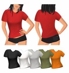 Woman's t shirt vector