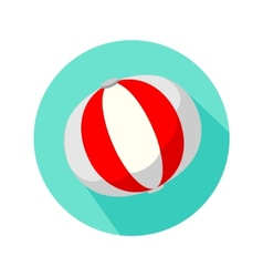 Red and white beach ball isolated vector