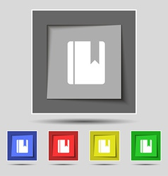 Book bookmark icon sign on the original five vector