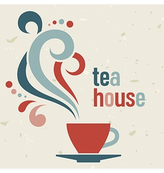 Tea house vector