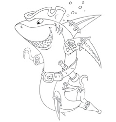 Shark pirate vector