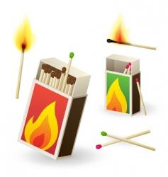 Matchboxes vector
