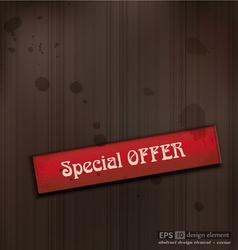 Special offer vintage business background vector