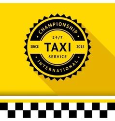 Taxi badge 10 vector