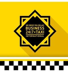 Taxi badge 11 vector