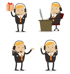 Customer services businessman vector