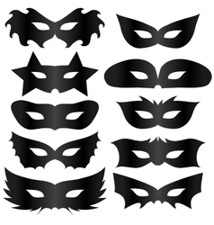 Black masks vector