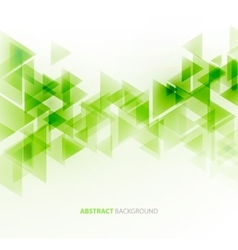 Abstract polygonal triangles poster vector
