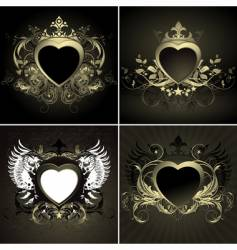 Ornate hearts vector