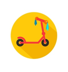 Scooter for children with ribbons vector