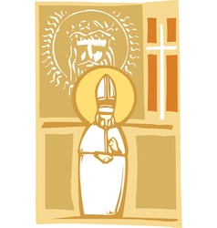Pope and christian images vector