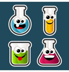 Test tube cartoons vector