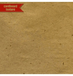 Cardboard texture with red ribbon vector