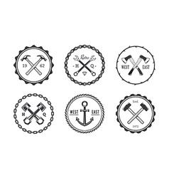 Crafts emblems 2 vector
