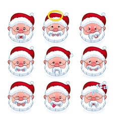 Smilies santa claus vector