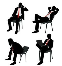Bussinesman sitting vector