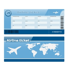 Air ticket vector