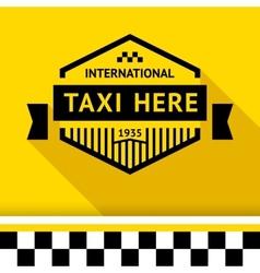 Taxi badge 14 vector