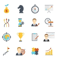 Business strategy planning icons vector