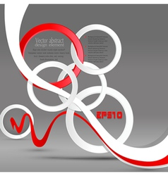 Abstract background with circles and strips vector