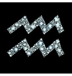 Diamond aquarius symbol vector