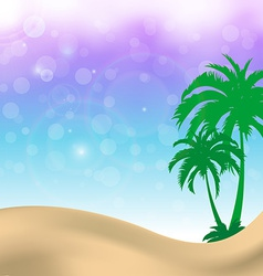 Sweet palm trees summer background vector