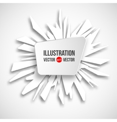 Abstract frame on a background of white fragments vector