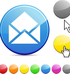E-mail glossy button vector