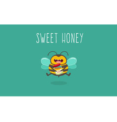 Bee honey vector