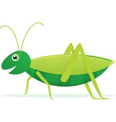 Cute cartoon grasshopper vector