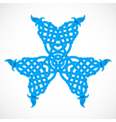 Blue native ornament vector