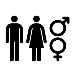 Male and female sign gender symbol vector