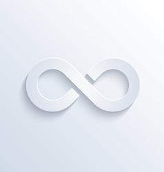 Infinity sign with shadow vector