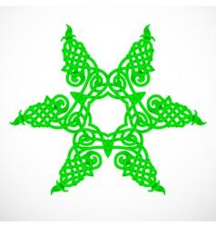 Green native ornament vector